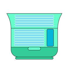 Solarium is horizontal open isolated apparatus vector