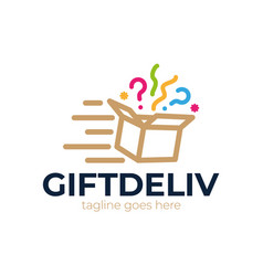 speed box icon logo design element delivery gift vector image