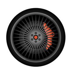 Sport car racing rim icon vector