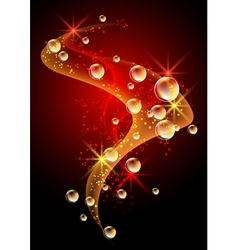 stars and bubbles vector image vector image