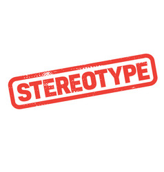 Stereotype stamp on white vector