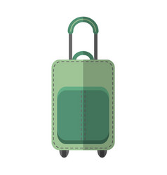 suitcase luggage flat color icon object vector image