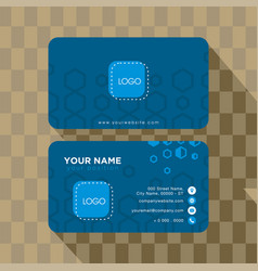 template business abstract card creative corp vector image