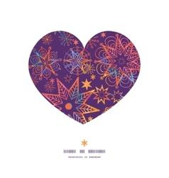 Textured christmas stars heart silhouette pattern vector