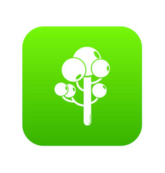tree icon green vector image