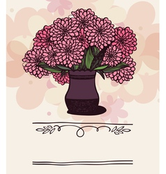 Vase with chrysanthemum vector image