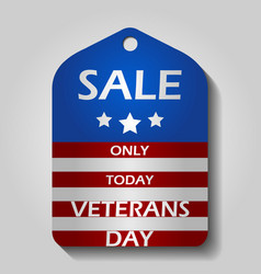veterans day sale label or price tag with national vector image