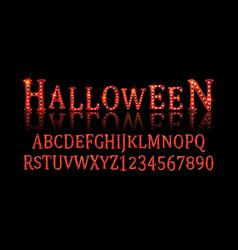vintage halloween original typeface vector image
