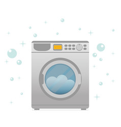 Washing machine in flat style modern vector