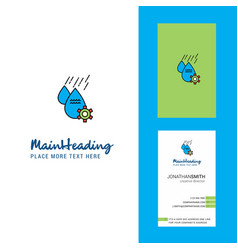 Water control creative logo and business card vector