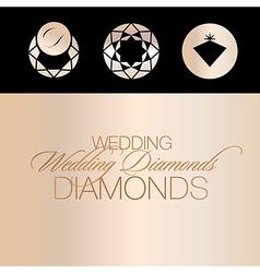 Wedding Diamonds Icons vector