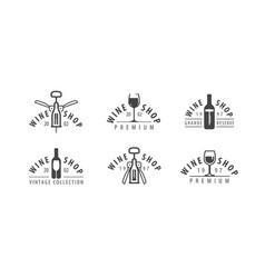 wine logo or symbol winery winemaking drink vector image