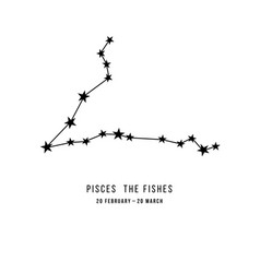 Zodiac constellation pisces vector