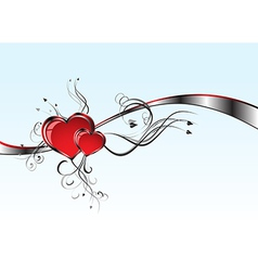 2 Hearts And Valentins Day vector image vector image