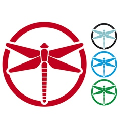 dragonfly sign vector image vector image