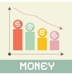 Money Graph vector image