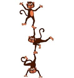 monkeys cartoon attraction vector image vector image