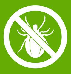no bug sign icon green vector image vector image