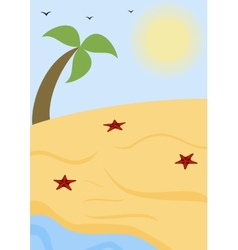 Summer sunny beach vector image vector image