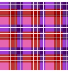 Bright plaid fabric vector image