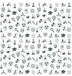 Science and technology seamless background vector image vector image