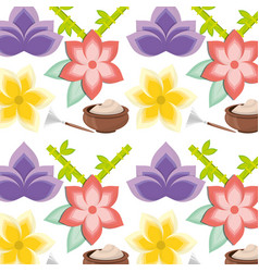spa mask product with flowers background vector image