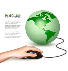 computer mouse world vector image