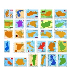 eu country stamps vector image