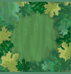 frame for text decoration enchanted forest with vector image