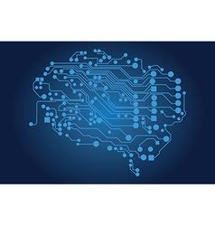 Human brain logical thinking vector