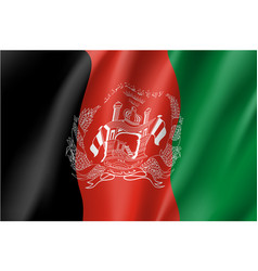 national flag of afghanistan republic vector image vector image