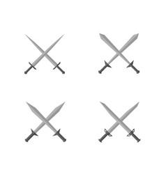 silver sword set vector image vector image