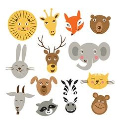 Animal faces vector
