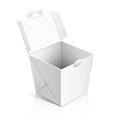Chinese food opened take out box vector image