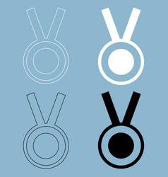 medal the black and white color icon vector image