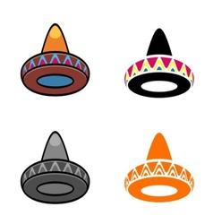 Mexican hats vector image vector image