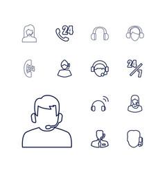 13 operator icons vector