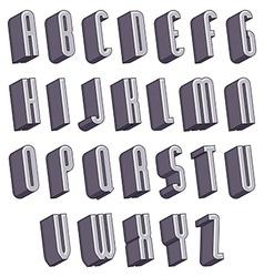 3d font monochrome dimensional alphabet vector