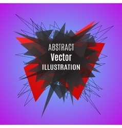 Abstract red polygonal explosion vector