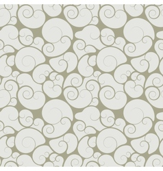 Abstract seamless floral swirls wallpaper vector