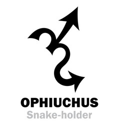 Astrology sign of zodiac ophiuchus the vector