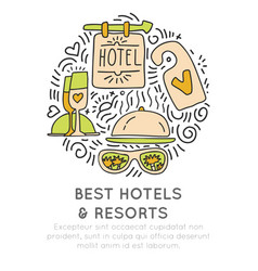 Best hotel and resortes icon concept vector