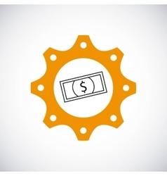 Bill icon gear design graphic vector