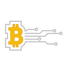 bitcoin coin virtual money cryptocurrency payment vector image