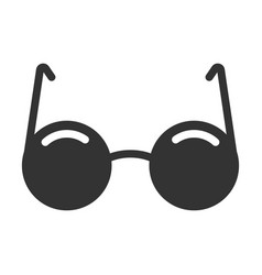 black glasses icon eye wear and accessory vector image