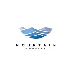 Blue mountain logo design templatecreative vector