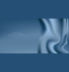 blue textile drapery horizontal background with vector image