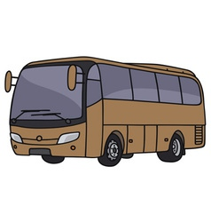 Brown bus vector