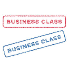 Business class textile stamps vector