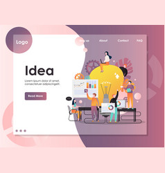 Business idea website landing page design vector